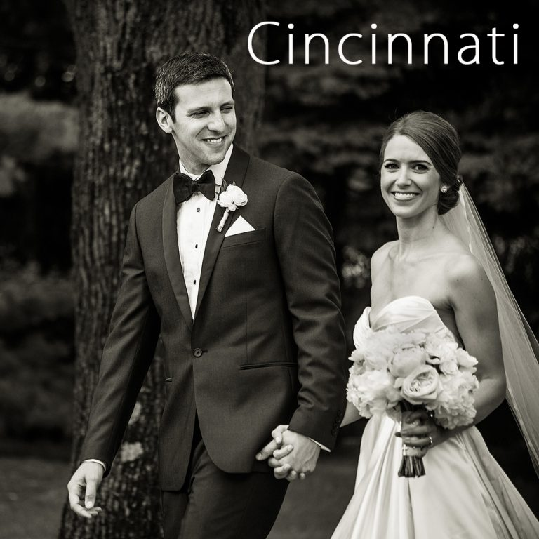 Groom PG Sittenfield and his bride walking on their wedding day at Cincinnati Country Club